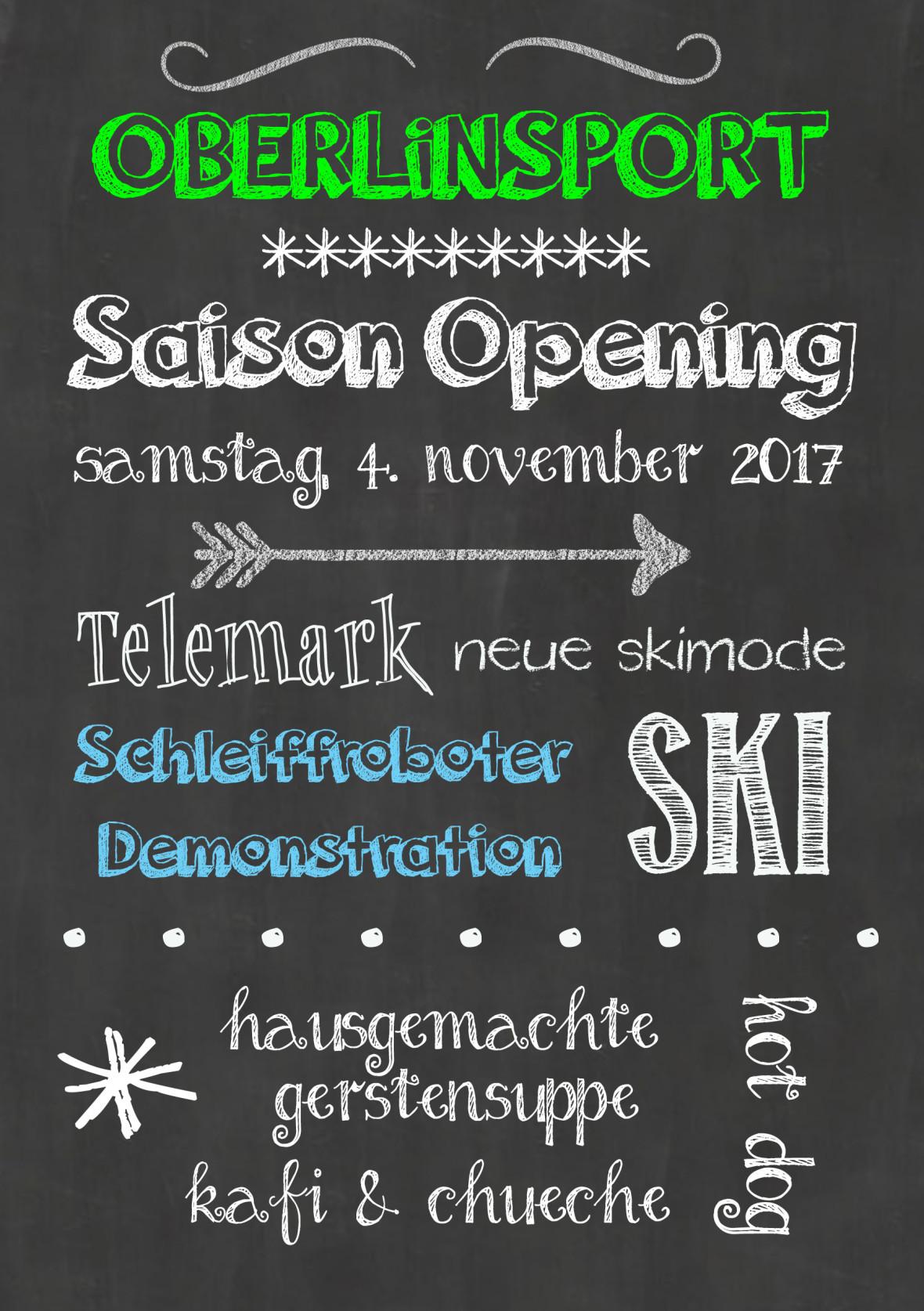 Flyer Saison Opening